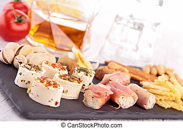 assortment of appetizers