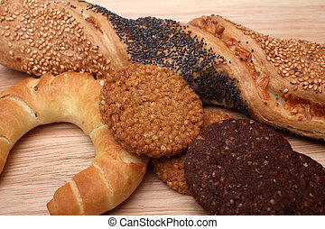 Assortment of baked bread