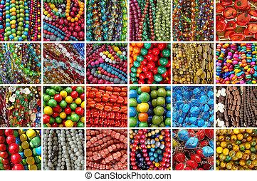 assortment of beads bijou - collage