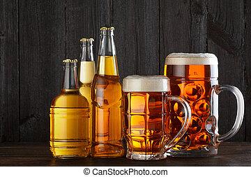 Assortment of beer glasses