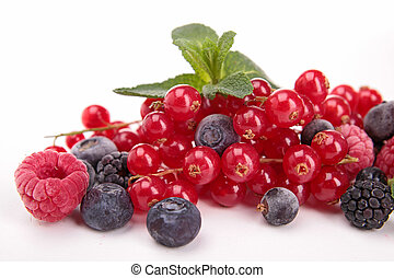 assortment of berries fruits