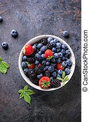 assortment of berries