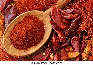 Assortment of chili