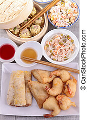 assortment of chinese food