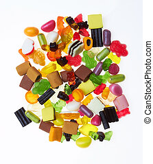 assortment of colorful candy