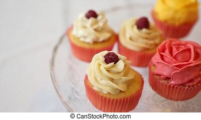 Assortment of Cupcakes - Assortment of cupcakes panning...