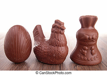 assortment of easter chocolate