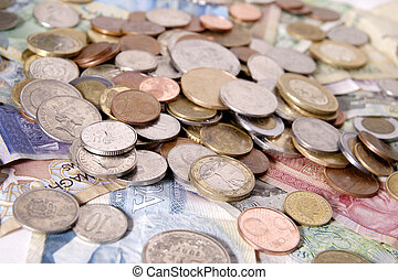 Assortment of Foreign Money - Foreign bills and coins from ...