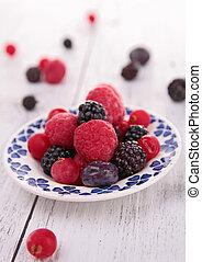 assortment of fresh berries