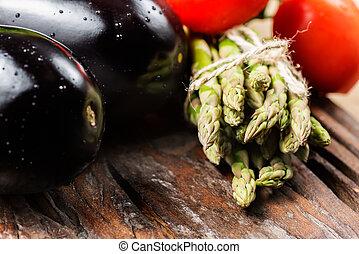 Assortment of fresh vegetables closeup