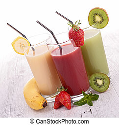 assortment of fruit juice