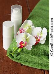 assortment of jars creams lotion