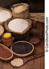 Assortment of rice