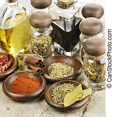 Spices Cooking Oil And Vinegar