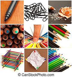 Assortment Of Stationery Supplies