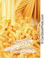 assortment of uncooked pasta