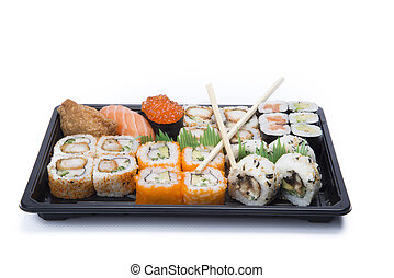 assortment sushi