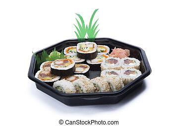 assortment sushi