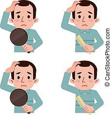 assottigliamento, guaio, capelli
