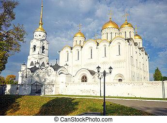 Assumption church in Vladimir city historic center.