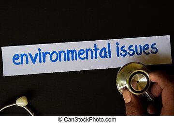 assuntos ambientais, inscrição