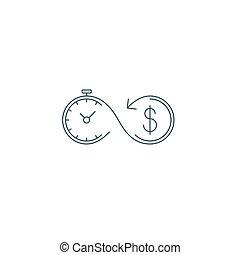 assurance, argent, icône, investissements, pension, concept, fonds, financier