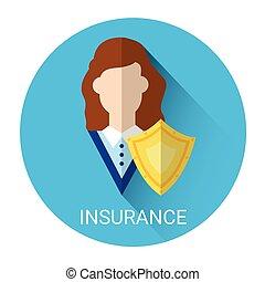 assurance, business, icône