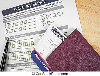 assurance, concept, pour, voyage