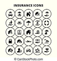 assurance, icônes
