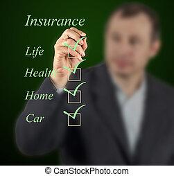 assurance, liste