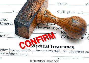 assurance médicale, confirmer