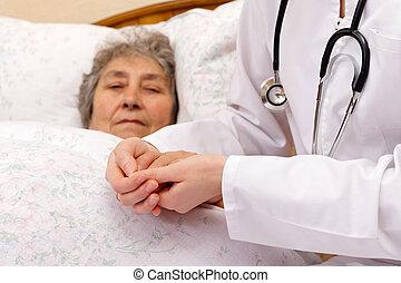 assurance médicale, dans, vieillesse