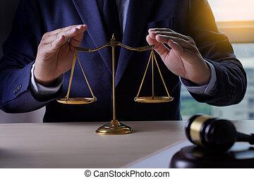 assurance maison, droit & loi, et, justice, concept