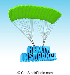 assurance maladie, 3d, concept, illustration