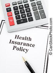 assurance maladie, politique