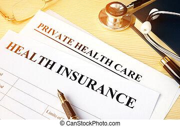 assurance maladie, politique, pour, privé, santé, care.