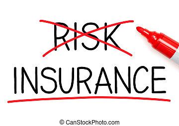 assurance, pas, risque