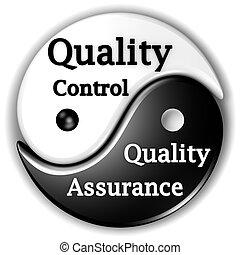 assurance qualité, et, contrôle qualité, aimer, ying, et, yang, are, inseparables