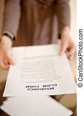 assurance, réclamation, formulaire