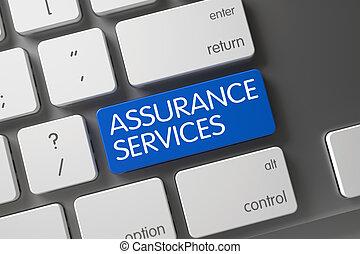 Assurance Services Button. 3D.