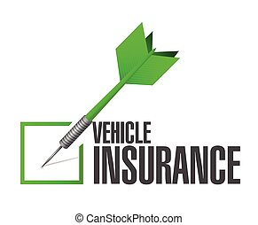 assurance, véhicule, dard, marque contrôle