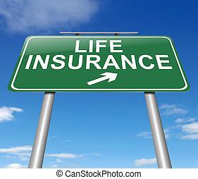 assurance-vie, concept.