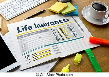 assurance-vie, concept médical, santé, protection, chambre maison, voiture, vie