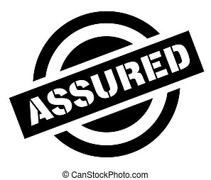 ASSURED sticker stamp