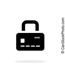 assurer, arrière-plan., payment., résumé, crédit, cadenas, blanc, carte, icône