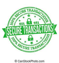 assurer, transactions, timbre