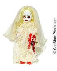 assustador, boneca