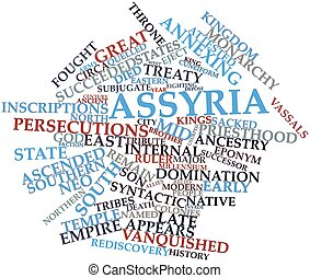 Assyria - Abstract word cloud for Assyria with related tags...