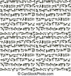 assyrian, cuneiform, sumerian, inscripton, starożytny, tło, ...