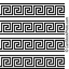 assyrian, illustration., egípcio, grego, vetorial, key.,...